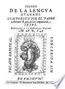 Arte, Bocabulario, Tesoro y Catecismo de la lengva gvarani