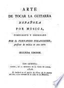 Arte de tocar la Guitarra espanola por musica. (Gitarre.)
