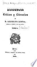 Artículos críticos y literarios, de Alberto Lista