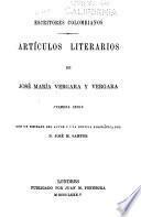 Artículos literarios de José María Vergara y Vergara