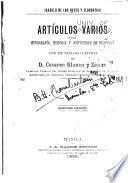 Artículos varios sobre etnografía