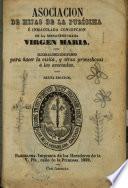 Asociacion de hijas de la purísima é Inmaculada Concepcion de la bienaventurada Virgen Maria