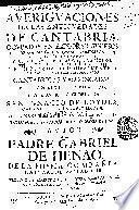 Aueriguaciones de las Antiguedades de Cantabria