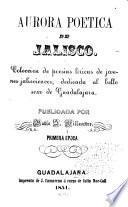 Aurora poetica de Jalisco