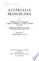 Austrialia franciscana: Documentos sobre la expedición de Alavro de Mendaña a las Islas de Salomón. 1567-1569
