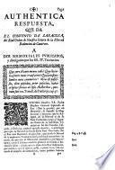 Authentica respuesta, que da el Convento de Zaragoza, del real orden de Nuestra Señora de la Merced redencion de Cautivos