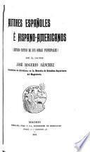 Autores españoles é hispano-americanos