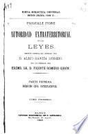 Autoridad extraterritorial de las leyes