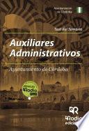 Auxiliares Administrativos del Ayuntamiento de Córdoba. Test del Temario