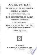 Aventuras de Gil Blas de Santillana robadas a España y adoptadas en Francia