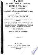 Aviso al verdadero y legítimo pueblo español