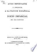 Aviso importante y urgente a la Nación Española