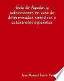 Ayudas y subvenciones en caso de determinados siniestros o catástrofes españolas