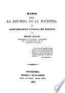 Bases para la reforma de la hacienda y contabilidad pública de Bolivia