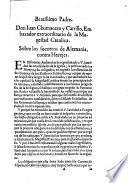 Beatissimo Padre. Don Iuan Chumacero y Carrillo, Embaxador extraordinario de la Magestad Catolica. Sobre los socorros de Alemania, contra Herejes