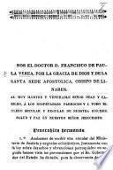 Begin. Nos el doctor D. F. de P. La V., etc. [A pastoral letter. Monclova, June 5, 1857.]