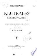 Beligerantes y neutrales