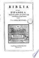 Biblia en lengua española, 1
