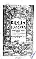 Biblia en lengua española