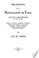 Bibliografia de la revolucion de Yara