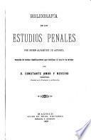 Bibliografia de los estudios penales por orden alfabético de autores