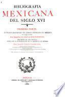 Bibliografía mexicana del siglo XVI