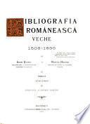 Bibliografia românescă veche 1508-1830