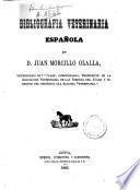 Bibliografía veterinaria española