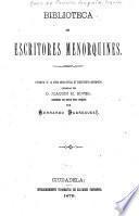 Biblioteca de escritores menorquines