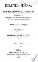Biblioteca peruana de historia, ciencias y literatura