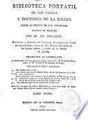 Biblioteca portatil de los Padres y Doctores de la Iglesia