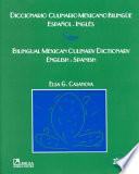 Bilingual Mexican culinary dictionary, English-Spanish