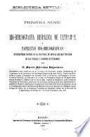 Bio-bibliografía hispálica de ultramar, ó, Papeletas bio-bibliográficas de escritores nacidos en la provincia de Sevilla que han tratado de las tierras y misiones de ultramar