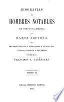 Biografias de hombres notables de Hispano-América