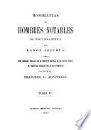 Biografias de hombres notables de Hispanoamérica