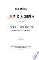 Biografías de literatos nacionales
