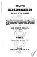 Boletin bibliografico español y estranjero