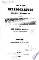 Boletín bibliográfico español y estranjero