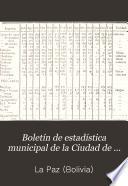 Boletín de estadística municipal de la Ciudad de La Paz de Ayacucho, Bolivia