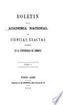 Boletin de la Academia Nacional de Ciencias