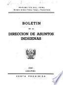 Boletin de la Dirección de Asuntos Indígenas