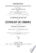 Boletin de la Exposicion Nacional en Córdoba en 1871