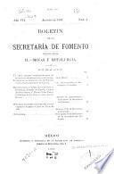 Boletín de la Secretaría de fomento ...