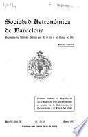 Boletin de la Sociedad astronómica de Barcelona ...