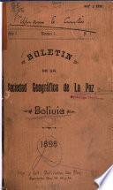 Boletin de la Sociedad geográfica de La Paz, Bolivia