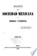 Boletín de la Sociedad Mexicana de Geografía y Estadística