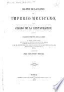 Boletin de las leyes del Imperio mexicano