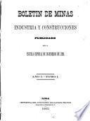 Boletin de minas, industria y construcciones