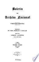 Boletin del Archivo Nacional