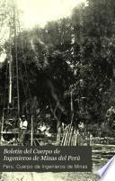 Boletín del Cuerpo de Ingenieros de Minas del Perú